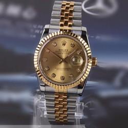 Đồng hồ RL025 cao cấp dây đờ mi mặt vàng