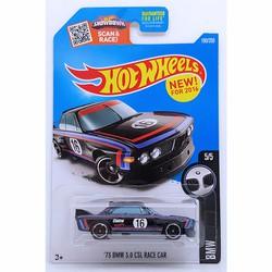 Xe mô hình tỉ lệ 1:64 HOT WHEELS 2016-1973 BMW 3.0 CSL RACE CAR Đen