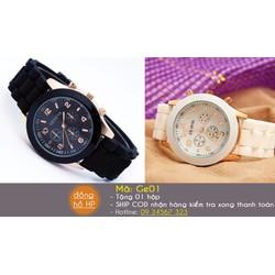 Đồng hồ đôi Geneva dây cao su