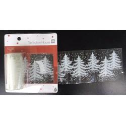 Decal noel, decal dán kính trang trí noel hoa tuyết 7,6x200cm.