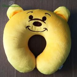 Gối kê cổ chữ U - Gối tựa cổ gấu Pooh