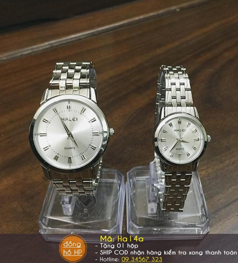 [VIDEO] Đồng hồ cặp đôi Halei cao cấp chịu nước - Giá 1 đôi - 712 10