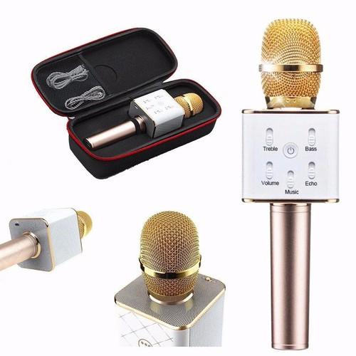 MIC karaoke bluetooth Q7 - chính hãng  kiêm sạc pin dự phòng - Tuyệt đỉnh âm nhạc