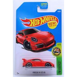 Xe mô hình tỉ lệ 1:64 HOT WHEELS 2016 PORSCHE 911 GT3 RS Đỏ