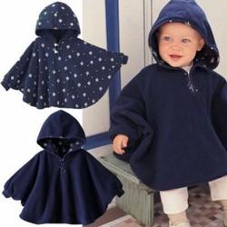 Áo choàng 2 mặt cho bé