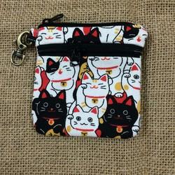 VILI27 - Little Ví Nhỏ Gắn Móc Chìa Khóa Họa Tiết Mèo Nhật May Mắn