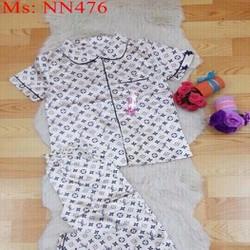 Đồ bộ nữ mặc nhà dài hình họa văn đẹp NN476