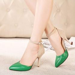 Giày cao gót bít mũi dây cổ điển
