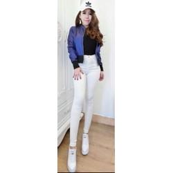 free Ship toàn quốc-Quần jeans trắng 1075PQ11