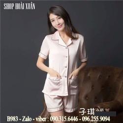 Bộ đồ ngủ phi lụa chất đẹp hàng xuất khẩu - B983
