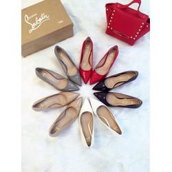 Giày cao gót Louboutin màu xám y hình