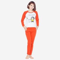 Bộ quần áo ngủ mặc nhà thể thao thu đông nữ ZENKO 002 OR
