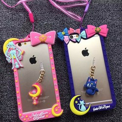 [Xoài Xấu Xa Shop] CASE ỐP LƯNG SILICONE SAILOR MOON IPHONE 6,6S PLUS