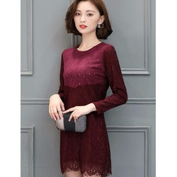 Đầm suông phối ren thời trang cao cấp - #5320