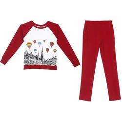 Bộ quần áo ngủ mặc nhà thể thao thu đông nữ ZENKO 003 DR