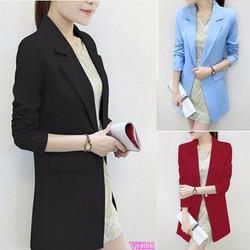Áo khoác nữ Blazer form dài sành điệu