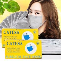 Combo 2 hộp khẩu trang y tế than hoạt tính Catena 100 cái