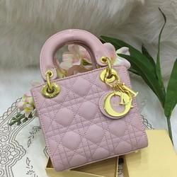 Túi xách đẹp màu hồng 2 quai