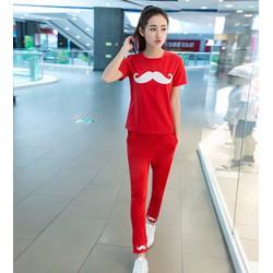 quần áo bộ hình râu Mã: AA591 - ĐỎ