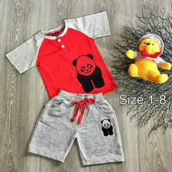 Đồ bộ bé trai in hình gấu Panda