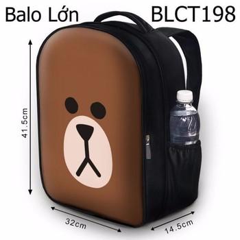 Balo học sinh Dễ thương Mặt gấu Brown - VBLCT198