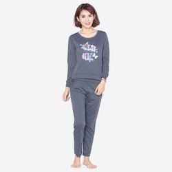 Bộ quần áo ngủ mặc nhà thể thao thu đông nữ ZENKO 001 CHA