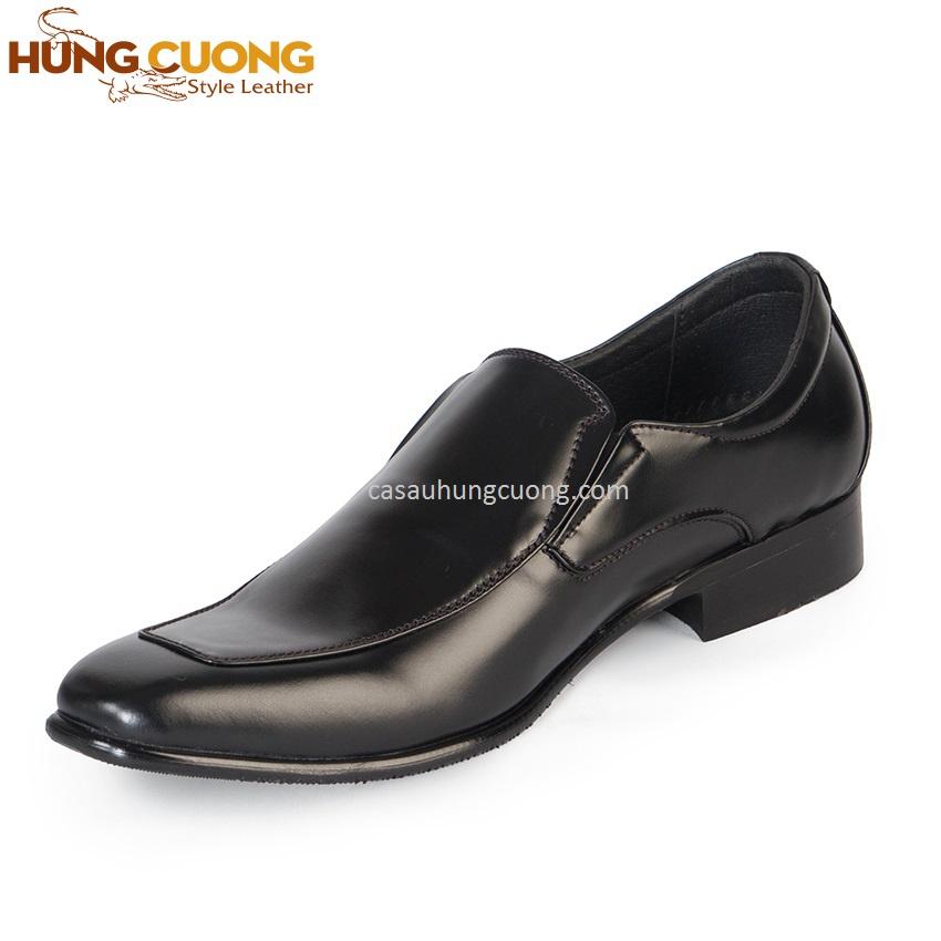 Giày tăng chiều cao da bò thật cao cấp Hùng Cường màu đen HC1031 3