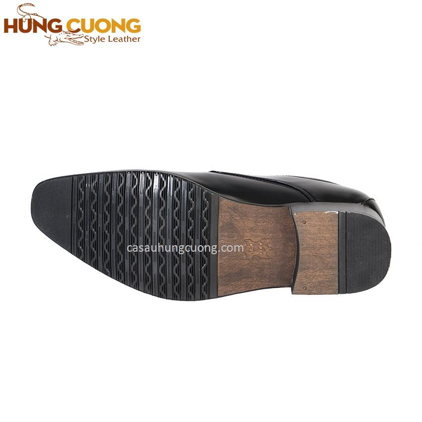 Giày tăng chiều cao da bò thật cao cấp Hùng Cường màu đen HC1031 5
