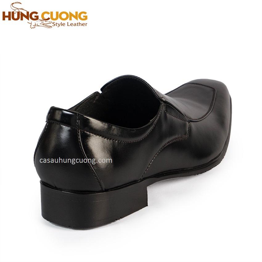Giày tăng chiều cao da bò thật cao cấp Hùng Cường màu đen HC1031 4