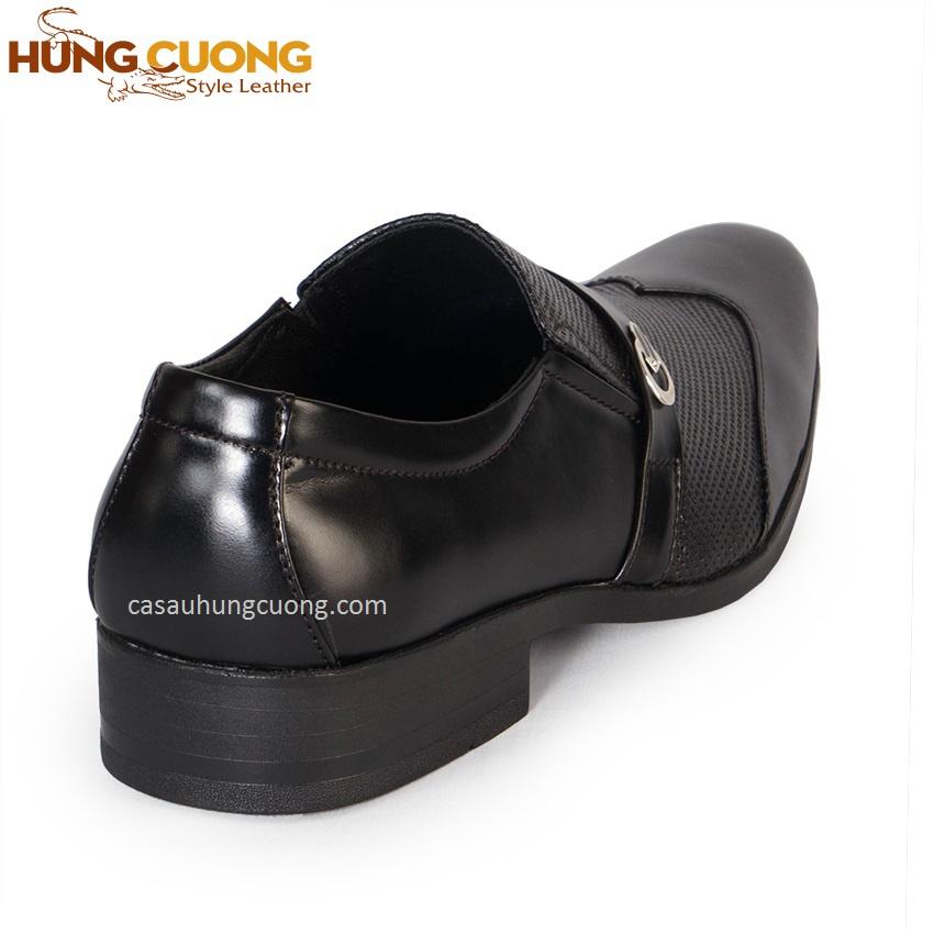 Giày tây da bò thật cao cấp Hùng Cường màu đen HC1021 4