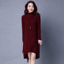 Đầm len suông cổ lọ thời trang cao cấp 2016 - SP8679