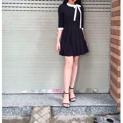 Đầm xếp ly cột nơ siêu dễ thương Ali Dress