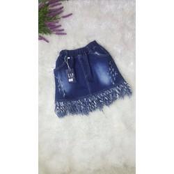 [21-25] Chân váy jean tua tủa