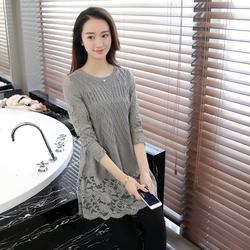 Đầm len phối ren họa tiết cực xinh DL37
