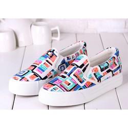 Giày Slip on Nhiều Màu Giày Lười Giày Vải G078