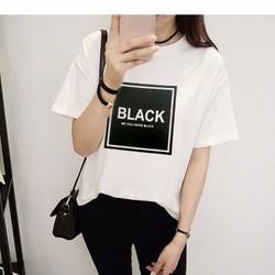[XƯỞNG CHUYÊN SỈ] ÁO BLACK WHITE TAY LỠ