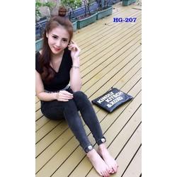 Quần kaki nữ xăn lai