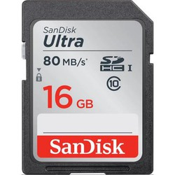Thẻ nhớ SD SanDisk Ultra 16GB Class 10 UHS 80MBs
