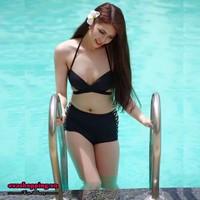 Set bikini cạp cao nâng ngực EvaBKN168