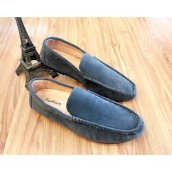 Giày Mọi Da Lộn Nam Màu Xám .