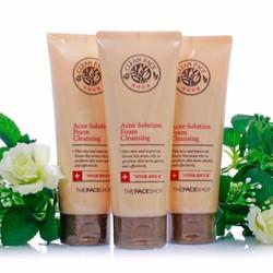 Sữa rửa mặt Clean face acne foam cleansing The Face Shop