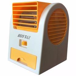 Quạt điều hòa Mini USB có khay đá Trắng phối cam
