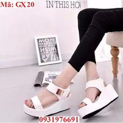 Giày nữ cao gót đế bằng phồi kim loại - GX20