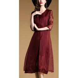 HÀNG NHẬP - Đầm suông cao cấp 2 tà voan lụa