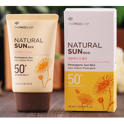 Kem chống nắng Natural Sun Photogenic Sun Blur The Face Shop SPF50 PA