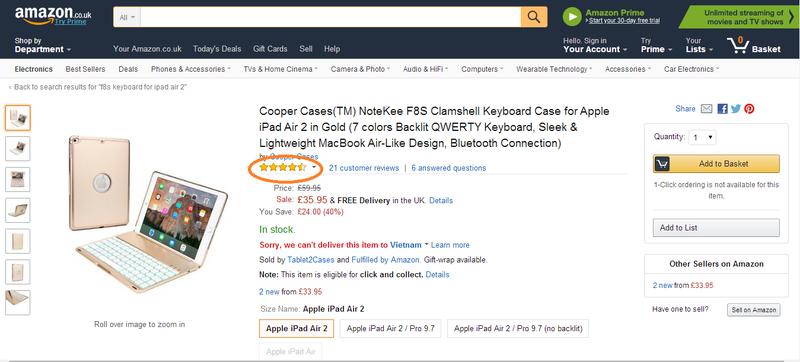 Bàn phím ốp lưng iPad Pro 9.7 vàng hồng Bluetooth 2