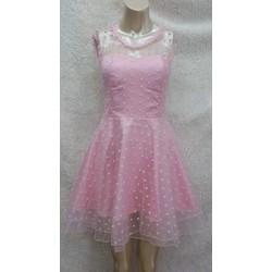 Đầm ren xòe hoa li ti - NR09