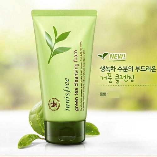 Sữa rửa mặt trà xanh Green Tea Cleansing Foam Innisfree 2