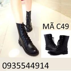 Giày bốt nữ cao cấp cá tính Hàn Quốc C49