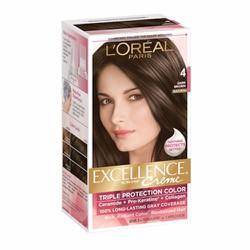 Thuốc nhuộm tóc LOréal Excellence Creme, 4 Dark Brown